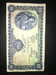 LADY OF LAVERY £10 BANKNOTE 1947 GOOD CONDITION RARE!!
