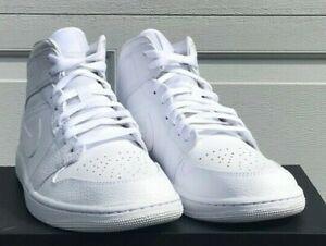 Air Jordan 1 Mid Triple White 554724-130