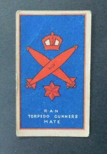 Sweetacres Card Australian Fighting Force Badges Torpedo Gunners Mate R.A.N.