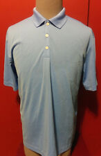 New Nike Golf Dri-Fit Large Polo Shirt S/S Baby Blue Decron Properties Nwt