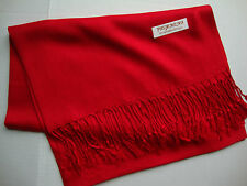 NEW Pashmina Fall Spring Scarf Scarves Silk True Red Solid Shawl Wrap Range Soft