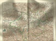 1906 Oberösterreich Österreich Alte Landkarte Karte Lithographie Lower Austria