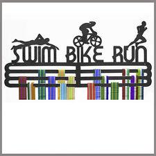 Medal Hanger Display Swim Bike Run Triple Tier Polypropylene
