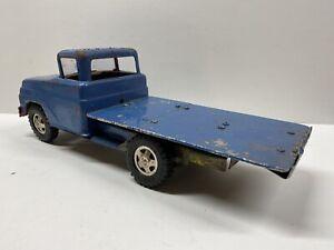Vintage Tonka Toys Pressed Steel Custom Flatbed Truck for PARTS or RESTORATION