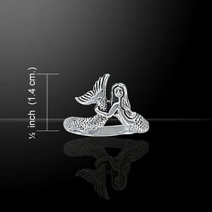 Mermaid .925 Sterling Silver Ring by Peter Stone Beach Jewelry