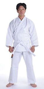 KANKU NEW White Karate Uniform, Gi 7.5 oz Adult Kids w/White belt Tae Kwon Do
