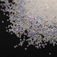 New 0.6mm AB Crystal Glass Caviar Beads Tiny 3D Micro Pixie Mermaid Nails Art