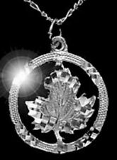 LOOK Canada maple leaf pendant charm Sterling silver .925