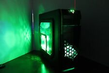 GREEN Gaming PC Desktop Computer AMD QUAD CORE 3.7 GHz 500GB 8GB RAM WIN10 WIFI