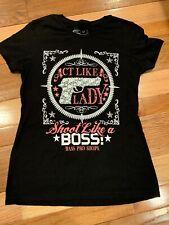 Act Like A Lady Shoot Like A Boss Fitted T-shirt Medium Bass Pro Shops Pro Gun