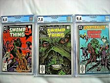 DC SWAMP THING #48 CGC 8.0 VF #49 7.0 FN/VF #50 9.4 NM White Pages Alan Moore