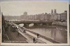 Irish RPPC PC GRATTAN BRIDGE River Liffey Four Courts Dublin Ireland Lawrence