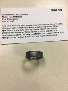 Real Gibeon Meteorite Ring Handmade US Size 5 1/2(5.5)