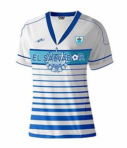El Salvador Women Soccer Jersey New With out Tags Color White