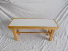 table center with TILE White. Craft, rustic and exclusive. 90 cm. long