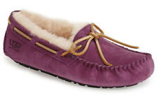 NIB UGG Australia Dakota Plush Aster Suede Slipper Moccasin Shoes US 7/38 #5612