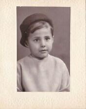 1964 Cute little boy in beret hat studio children fashion Soviet Russian photo