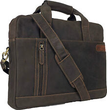 "UNICORN Real Leather 16.4"" Laptop Netbook Ultrabook Messenger Bag - Brown #9E"