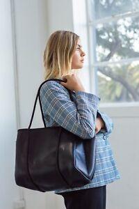 Metallic Black Neoprene Womens Athletica Travel Beach Handbag Gym Bag