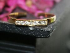 0.35ct Naturel Diamant Rond 14k Solide or Jaune Bande Orteil Taille Bague 7