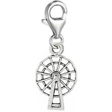 """""""Windmill"""" Clip On Pendant for European Charm Jewelry w/ Lobster Clasp"""
