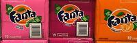 FANTA SODA POP 12 CANS- CREAM SODA, GRAPE & ORANGE *YOU PICK* 355ML-12OZ
