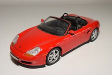 X 1:18 UT MODELS PORSCHE BOXSTER CABRIOLET RED NEAR MINT CONDITION