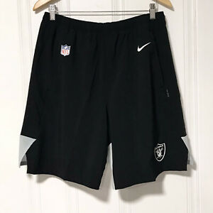 Nike NFL Las Vegas Raiders On-Field DriFit Shorts Black AO3860-010 Men's Size L