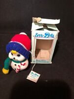 Snow Bells Vintage Porcelain Bell Christmas Ornament By Giftco With Box snowman