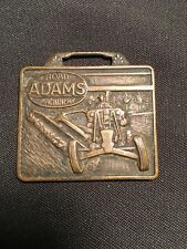 Antique Adams Road Machinery Priesler Machinery Co Memphis Tennessee Watch Fob