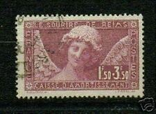"""FRANCE STAMP TIMBRE 1930  Y&T 256 """" ANGE AU SOURIRE DE REIMS """" OBLITERE TB."""