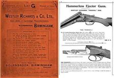 Westley Richards & Co. 1912 Export List G Gun Catalog