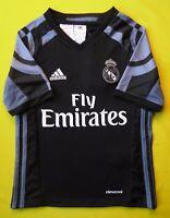 Real Madrid Jersey 2017 Third 7-8 Years Shirt Black Camiseta Adidas AI5148 ig93