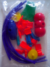 Tinker Toys Plastic Parts Lot Flag Tube Pod Pieces from Wood Junior Building Set