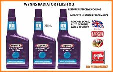 3 x WYNNS RADIATOR FLUSH - IMPROVES COOLING & HEATING -SUITABLE FOR ALL COOLANTS