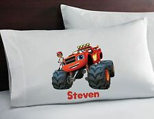 Childrens Custom Personalized Blaze and the Monster Machines Pillowcase