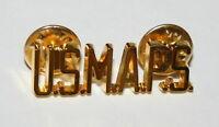 1960s Military Academy U.S. MAPS Brass Army Collar Uniform Pin New NOS