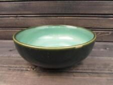 Nova Green by Sango Coupe Cereal Bowl Stoneware Green Speckles b86