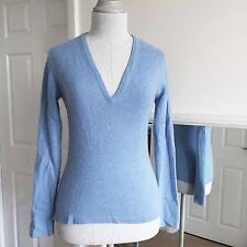 100% Cashmere Pull par Brora Bleu Taille M à manches longues col V