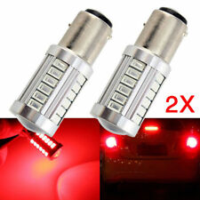 2X Red BAY15D 1157 Car Tail Stop Brake Light 5730 33SMD LED Bulb 12V DC