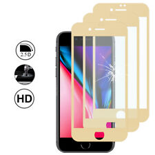 3 Protection Film Screen Tempered Glass Curved Edge YELLOW Apple iPhone 8 Plus