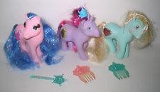Vintage Tinsel Hair MY LITTLE PONY Princess Lot of 3 Pink Misty Serena