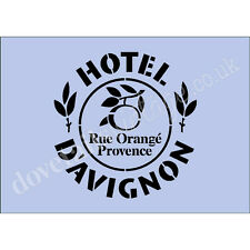 French Stencil Hotel D'Avignon A4 Re-Usable Shabby Chic Airbrush Craft 018 BOX