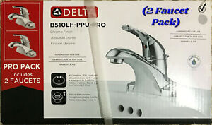 Delta B510LF-PPU-PRO 2-Pack Centerset Bathroom Faucet Chrome Finish