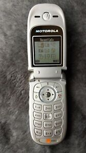 Motorola V220 Flip Phone - Classic Moto! - Vintage & Retro - Orange