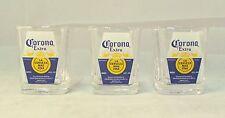 Set of 3 Corona Square Shot Glasses