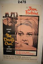 The Devil's Own Original 1sh Movie Poster 1967 Hammer, Joan Fontaine,