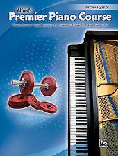 ALFRED'S PREMIER PIANO COURSE TECHNIQUE LEVEL 5 MUSIC BOOK BRAND NEW ON SALE!!