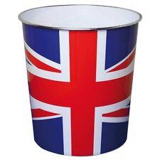 Union Jack British Flag Waste Paper Basket Bin Office Bathroom Kitchen