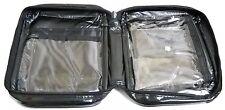 3 Black Vinyl Waterproof Cosmetic Toiletry Travel Bag
